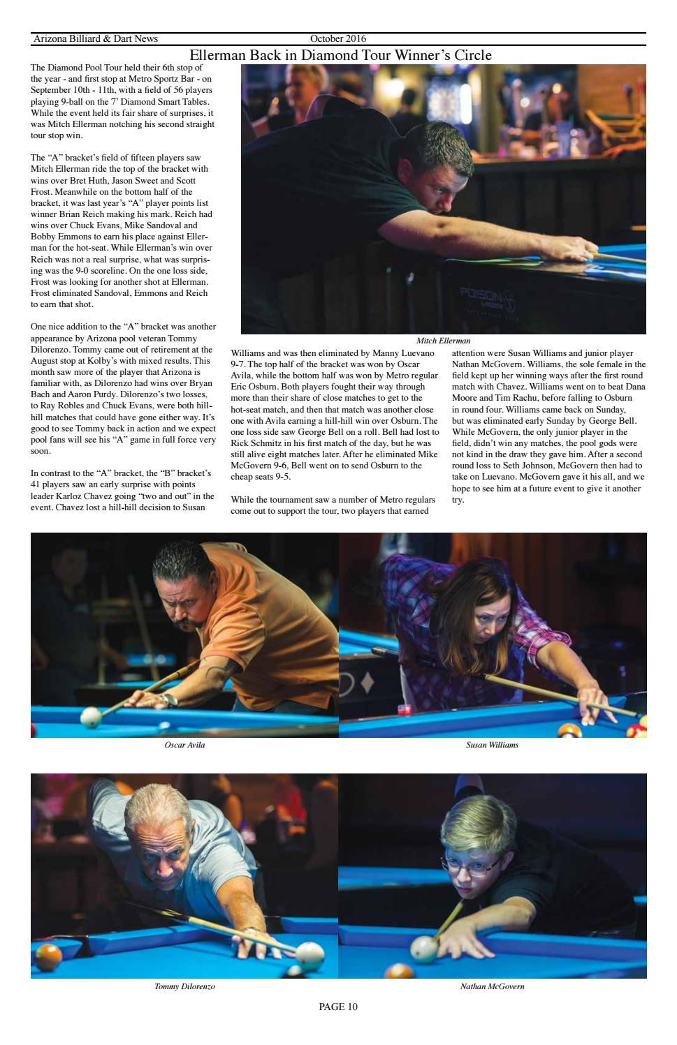 October Az Billiard Dart News By Mike Howerton Issuu - Diamond smart table