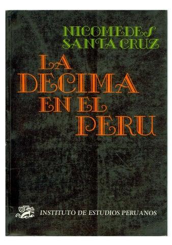 8db58761232fa La decima en el Perú - Nicomedes Santa Cruz by Jose Carlos Botto ...