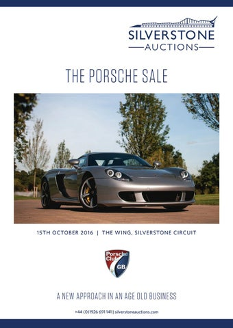 Merveilleux Silverstone Auctions The Porsche Sale 15th October 2016 By ...