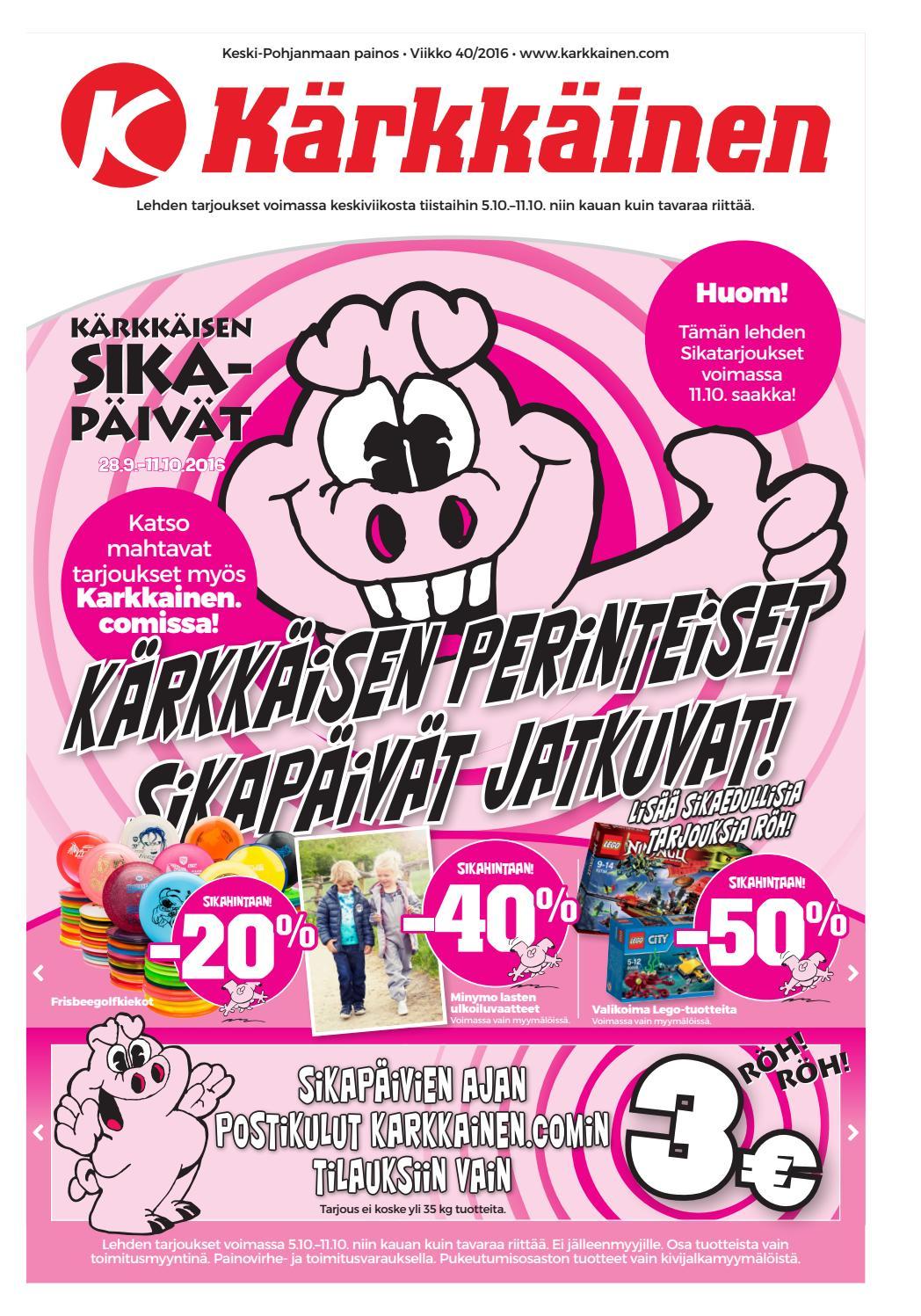 Kärkkäisen mainos (40 2016) by Tavaratalo J. Kärkkäinen Oy - issuu a15351ef7e
