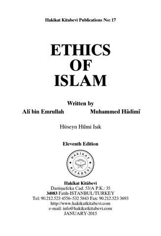 Ethics of islam by akinci - issuu