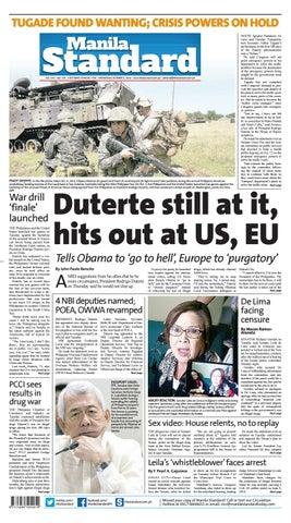 Manila Standard 2016 October 05 Wednesday By Manila