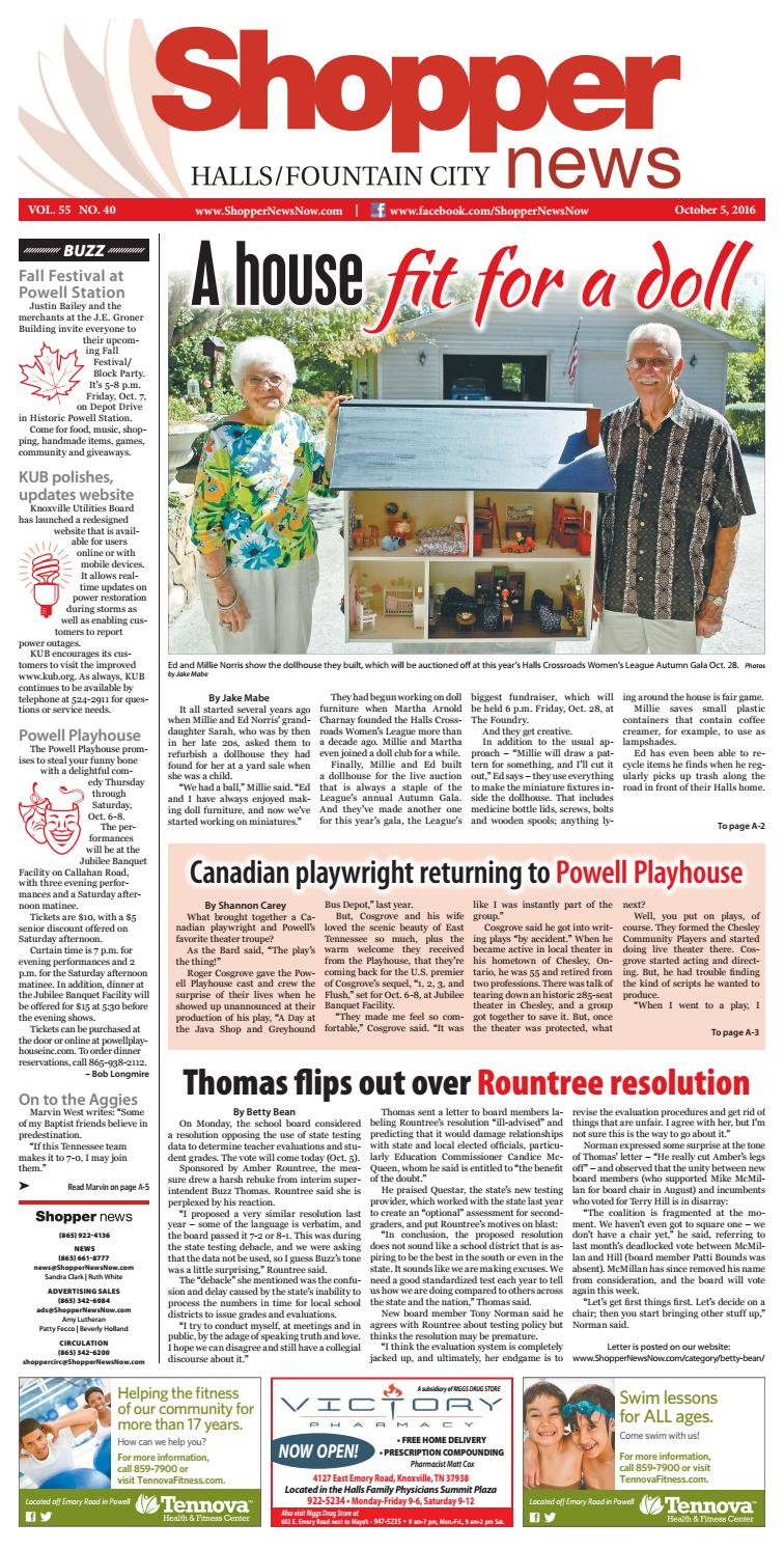 f84411fdad5 Halls Fountain City Shopper-News 100516 by Shopper-News - issuu