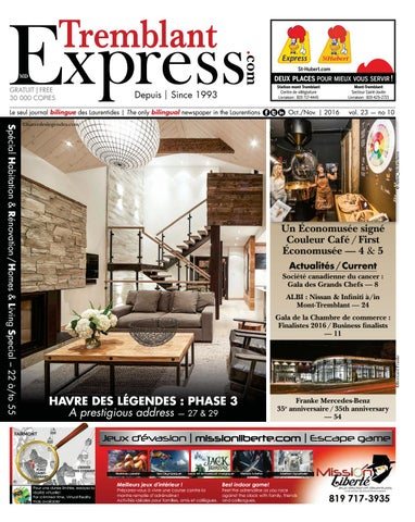 2016 10 tremblant express by tremblant express issuu for Chambre de commerce mont tremblant
