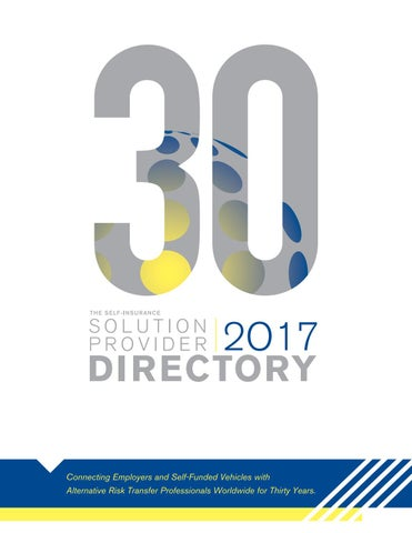 The Self Insurance Solution Provider Directory 2017 By Sipc Issuu