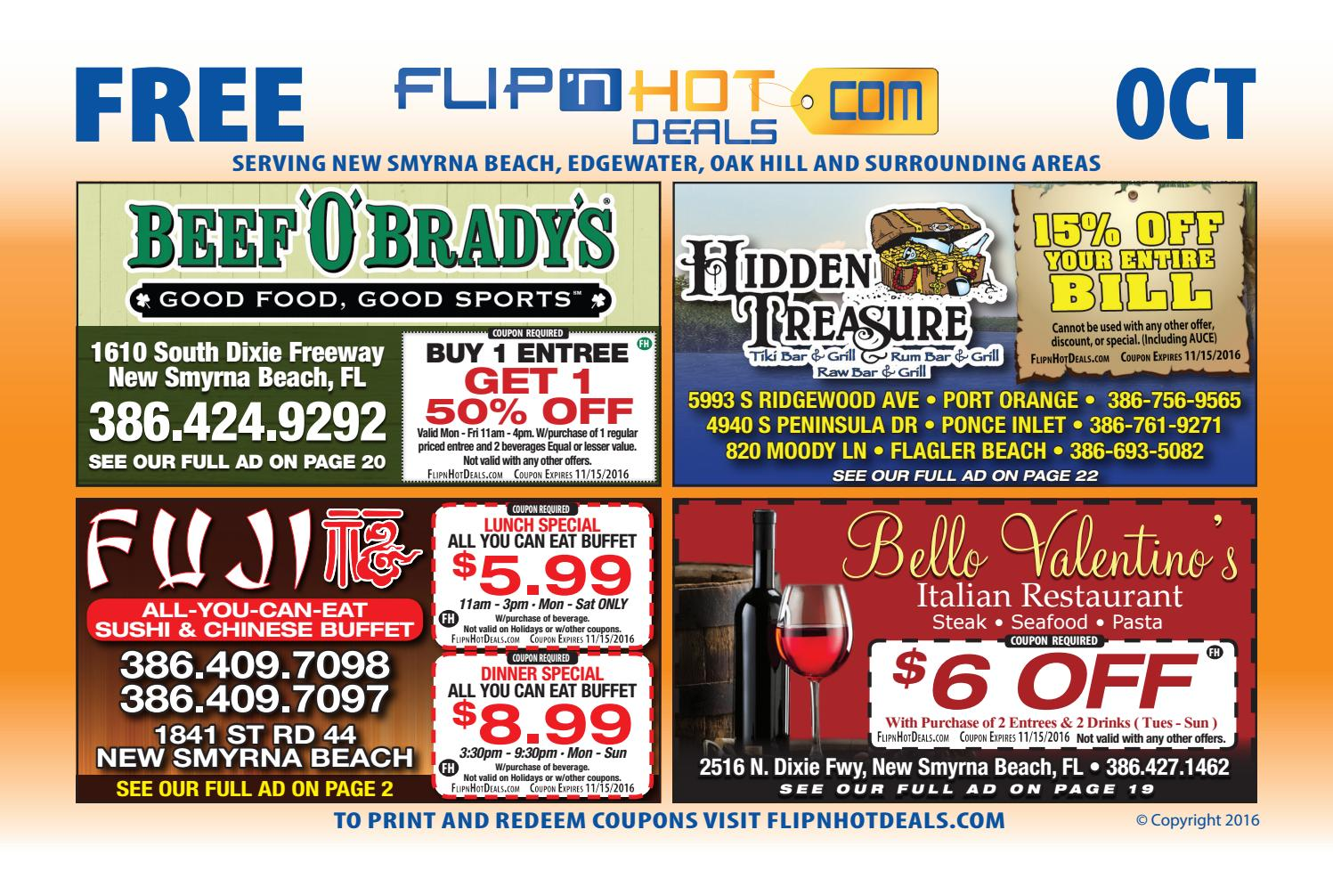Flipnhot Deals Coupon Book October  New Smyrna Beach Area By Flipnhot Deals Issuu