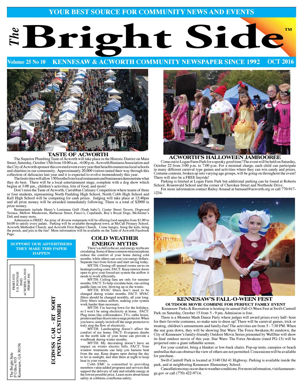 october 2016 kennesawacworth newspaper for cobb county by carol grigsby thompson publisher of the bright side community newspapers issuu - Halloween Express Kennesaw