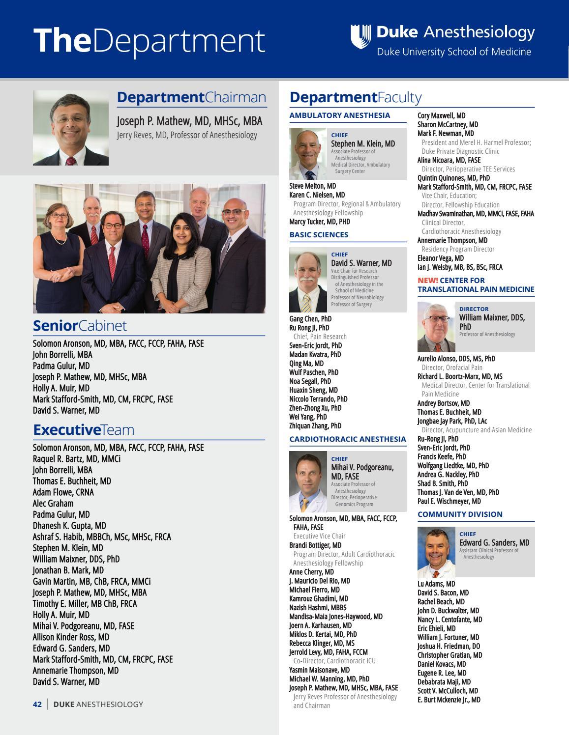 2016 BluePrint by Duke Anesthesiology - issuu