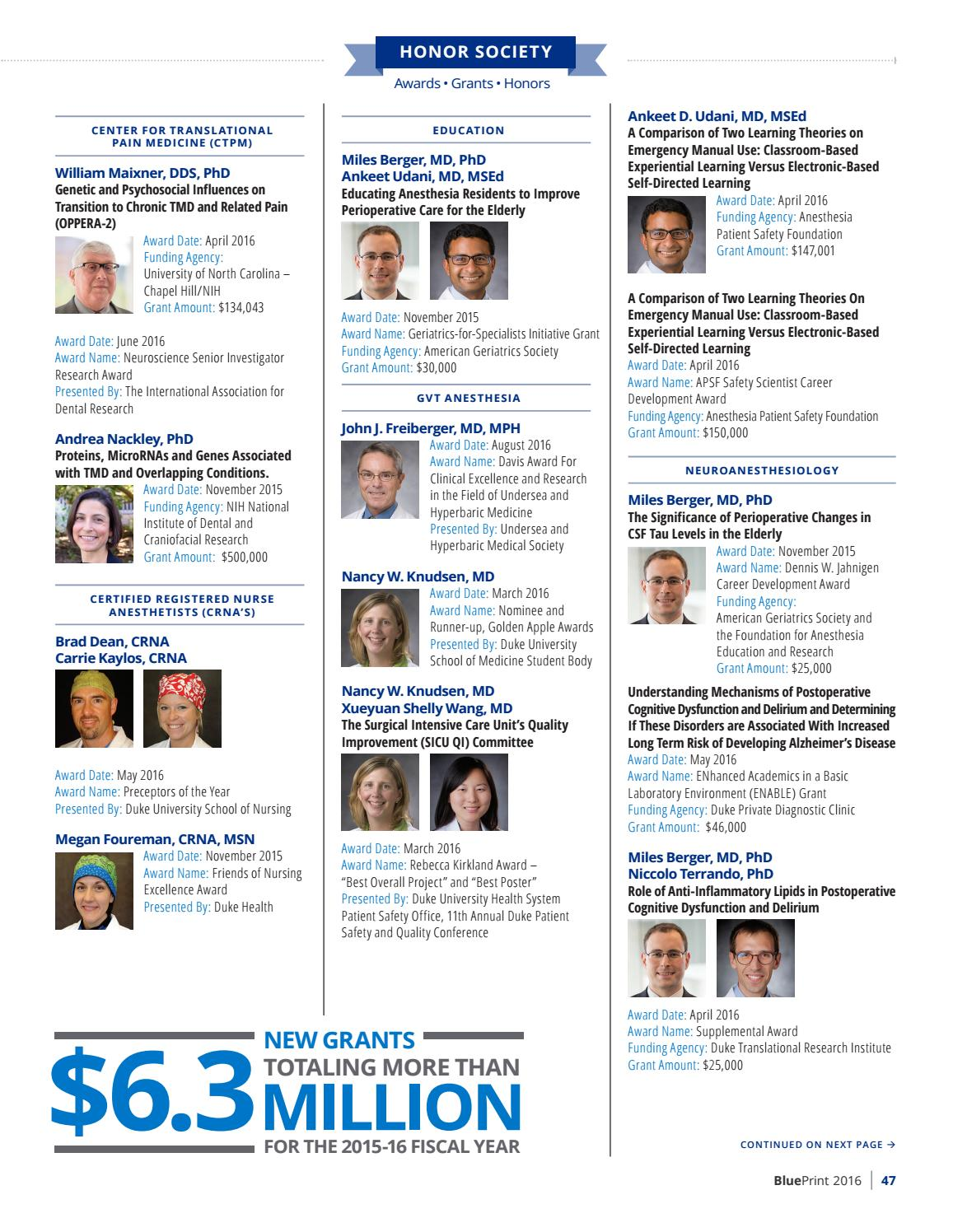 2016 blueprint by duke anesthesiology issuu malvernweather Image collections