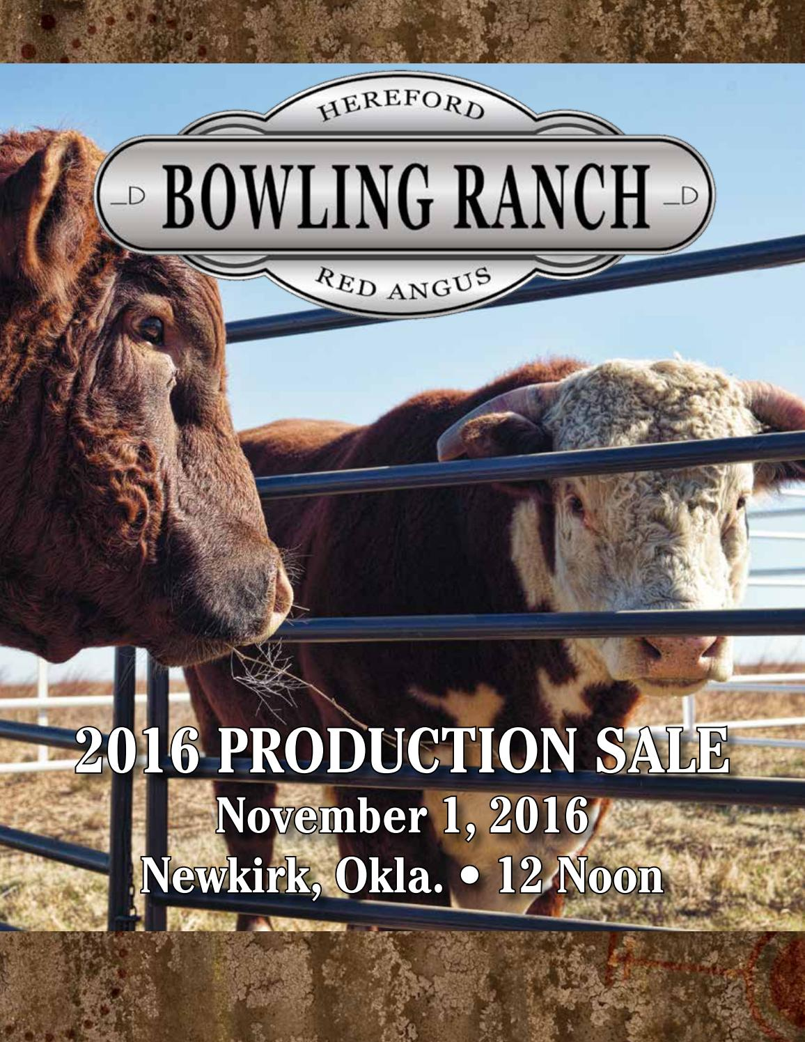 Bowling ranch production sale by american hereford for Ranch bowling