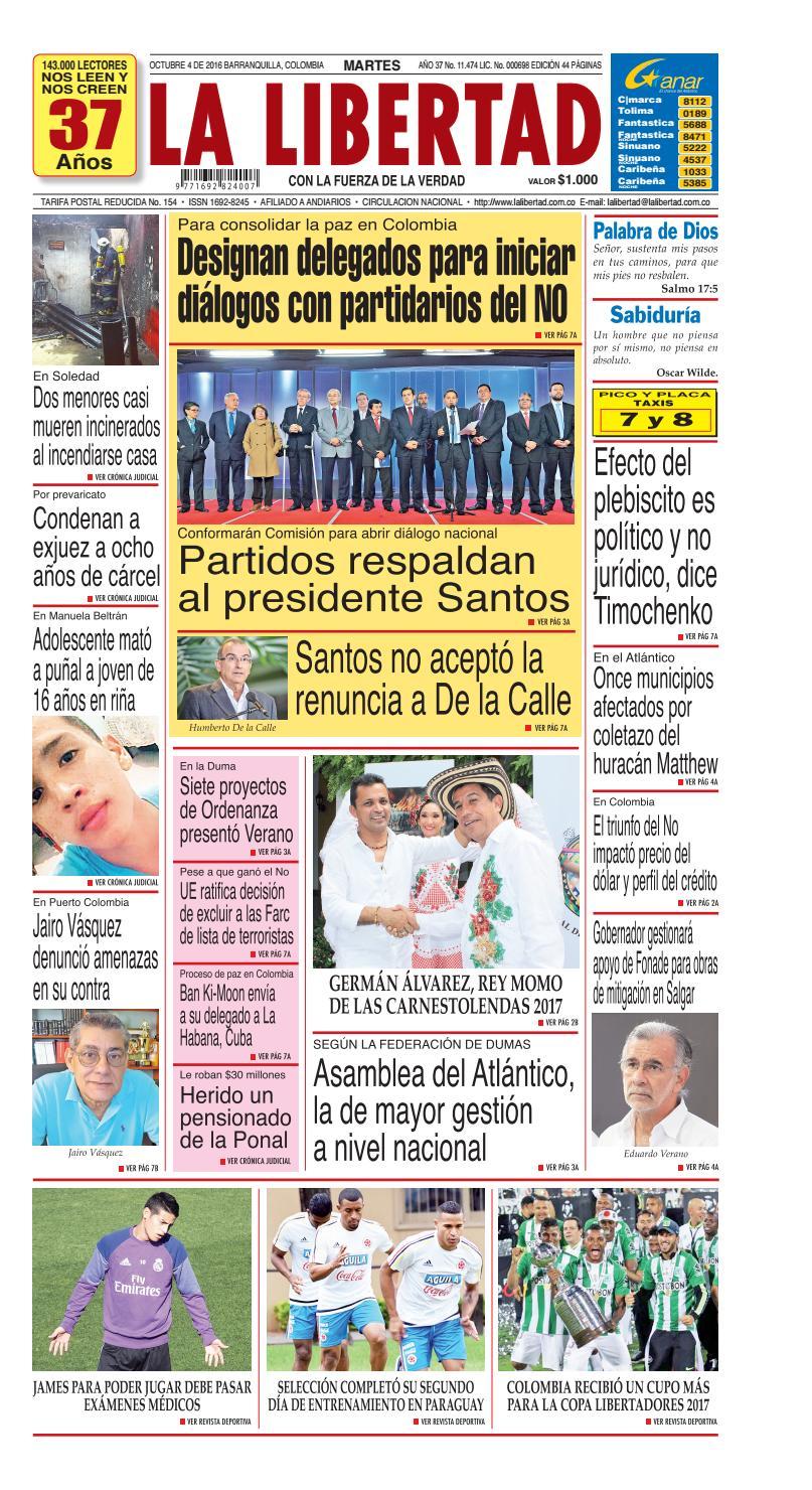 ab8d69344e9cc Diario La Libertad - 4 de octubre de 2016 by La Libertad - issuu