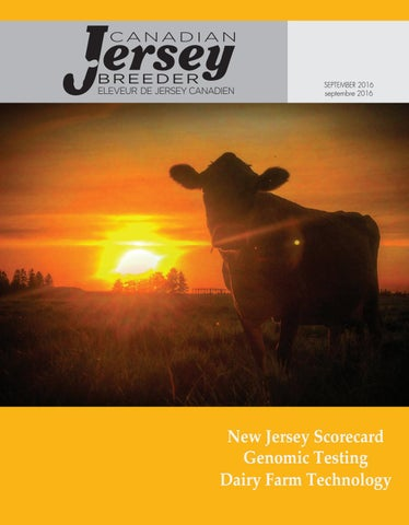 2016 Canadian Jersey Jersey Breeder September by Canadian Jersey Canadian Breeder 333a7b