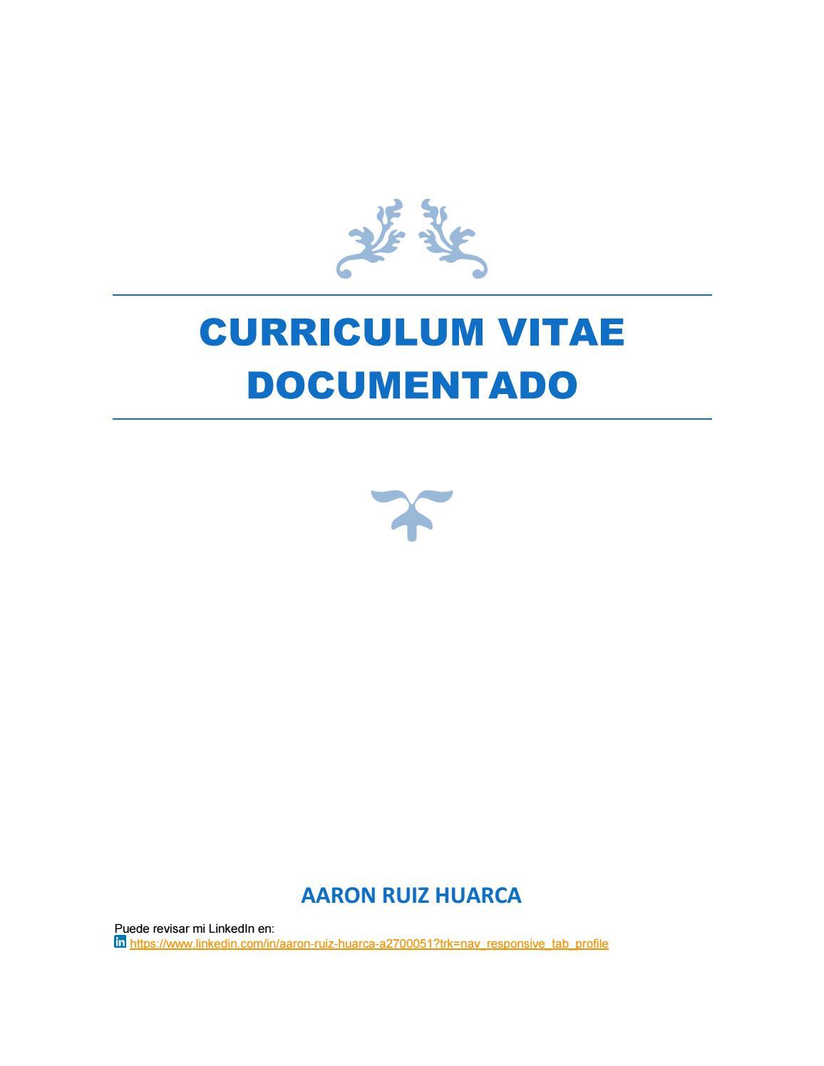 CV DOCUMENTADO AARON RUIZ HUARCA by Aaron Ruiz - issuu