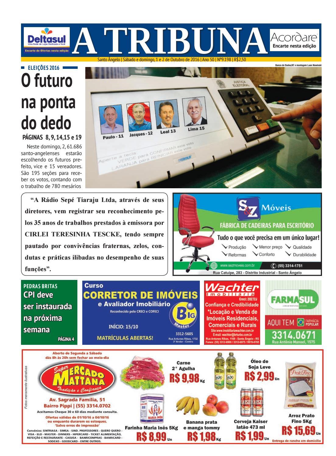 e9490c993bf93 Jornal a tribuna 1º e 2 de outubro de 2016 by Jornal A Tribuna - Santo  Ângelo - issuu