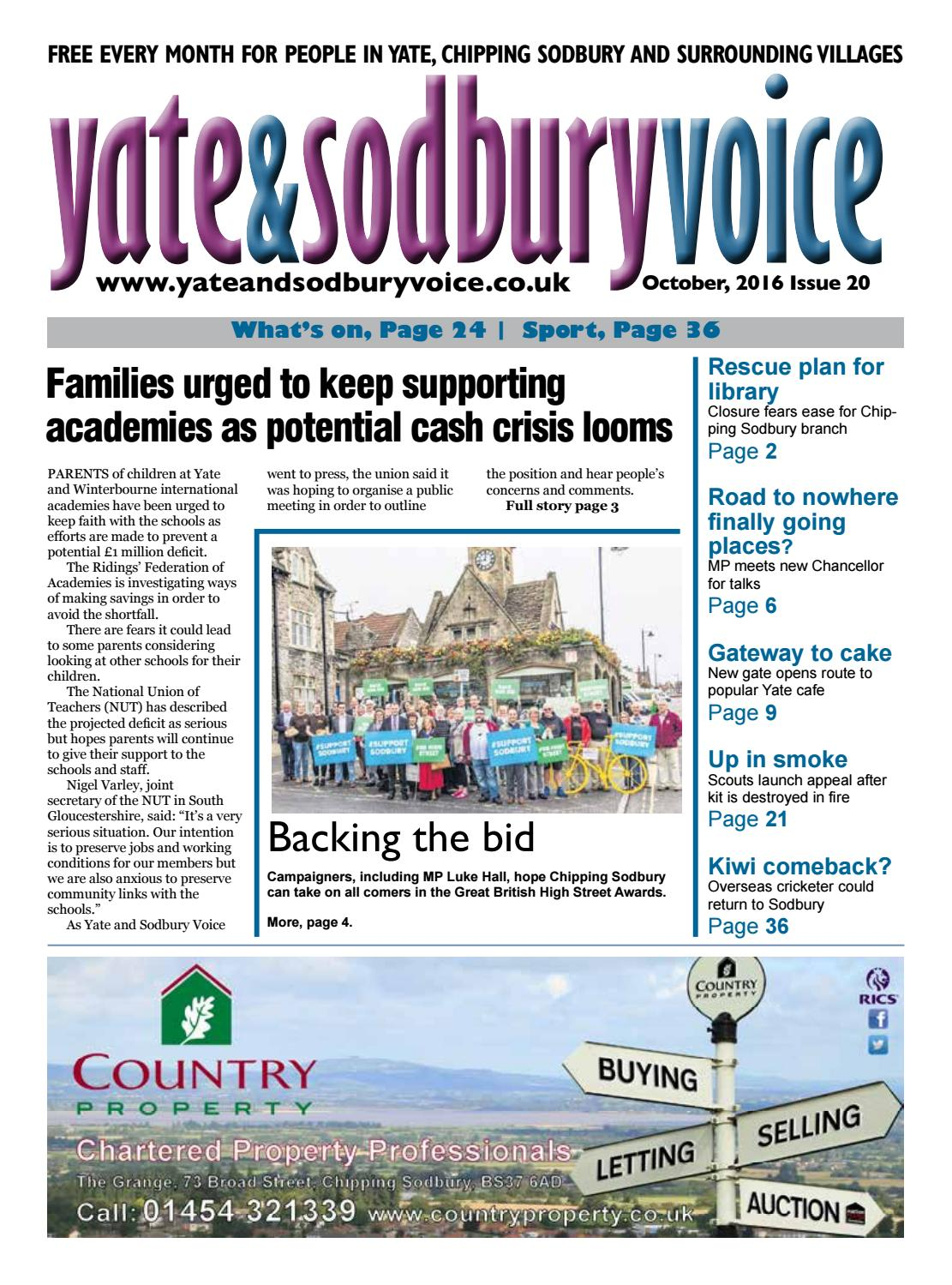 Yate & Chipping Sodbury Voice Newspaper October 2016 by Richard Drew at Yate and Sodbury Voice - issuu
