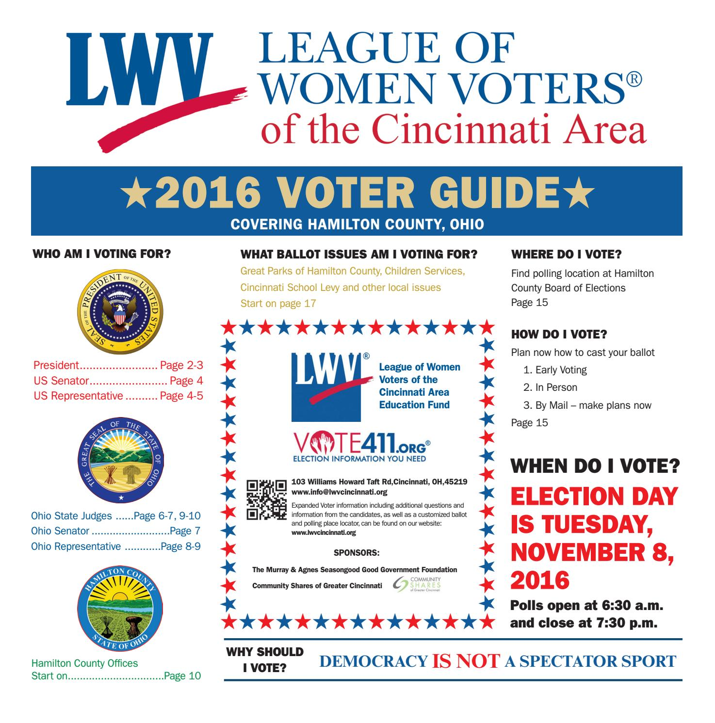 League of Women Voters 2016 Election Guide by Cincinnati ...