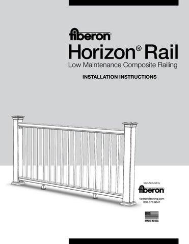 Fiberon Horizon Railing Installation Guide by TimberTown - issuu