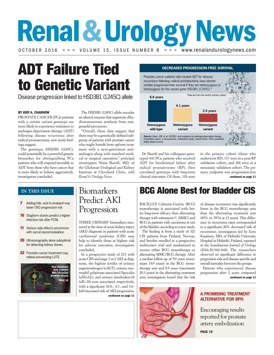 Renal & Urology News - October 2016 issue