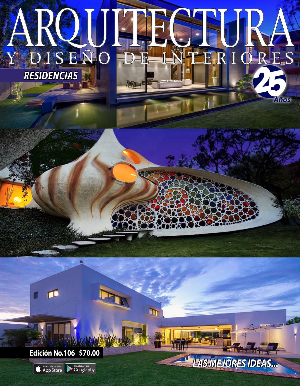 Arquitectura y dise o de interiores ed dig 106 by Diseno de ambientes y arquitectura de interiores