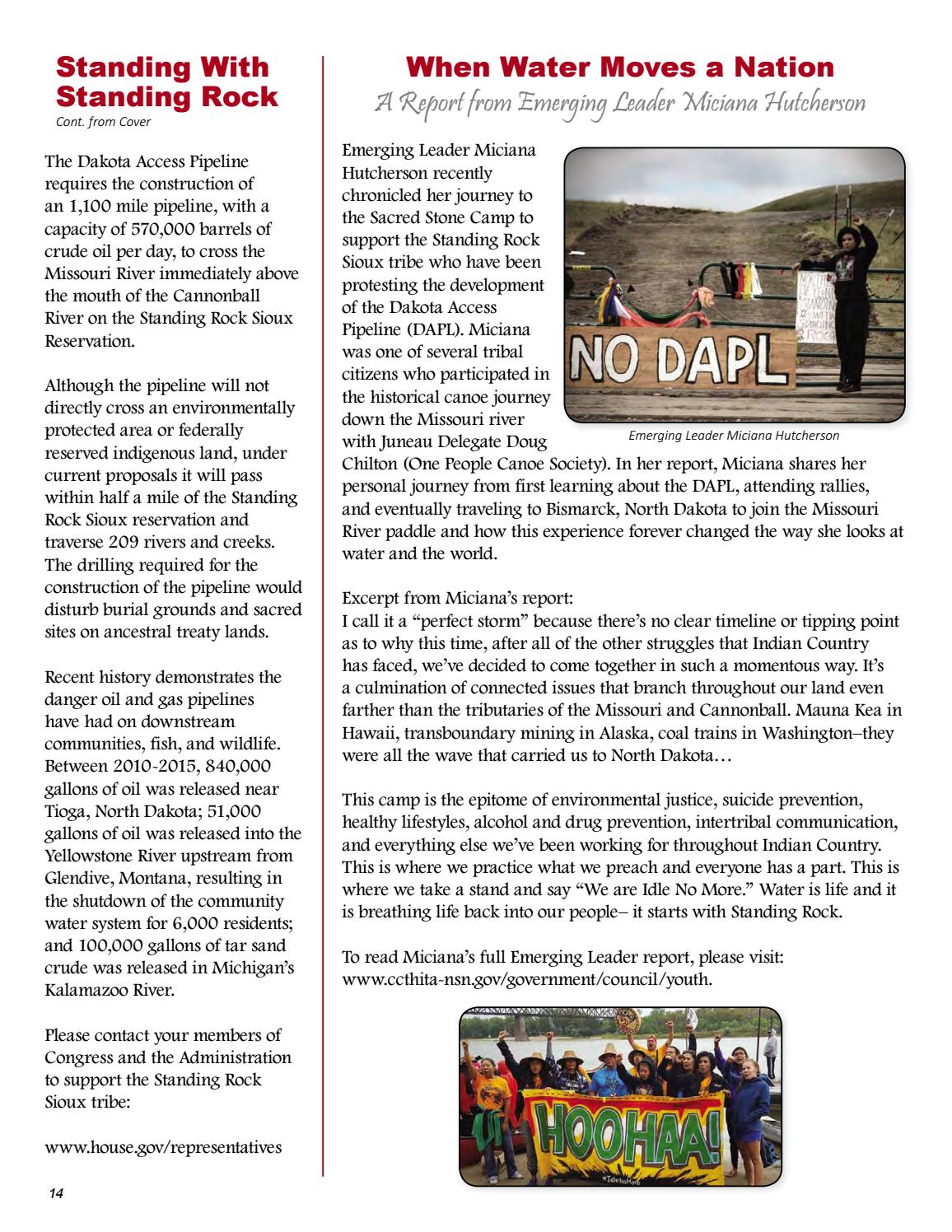 3rd Quarter 2016 Tribal News by Central Council Tlingit