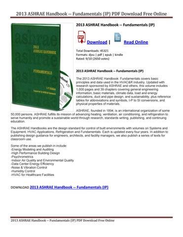 Pdf ashrae handbook 2012