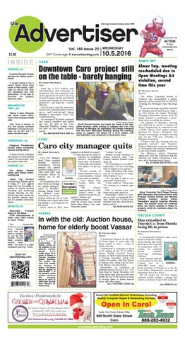 Tca 10 5 16 All Pages By Tuscola County Advertiser