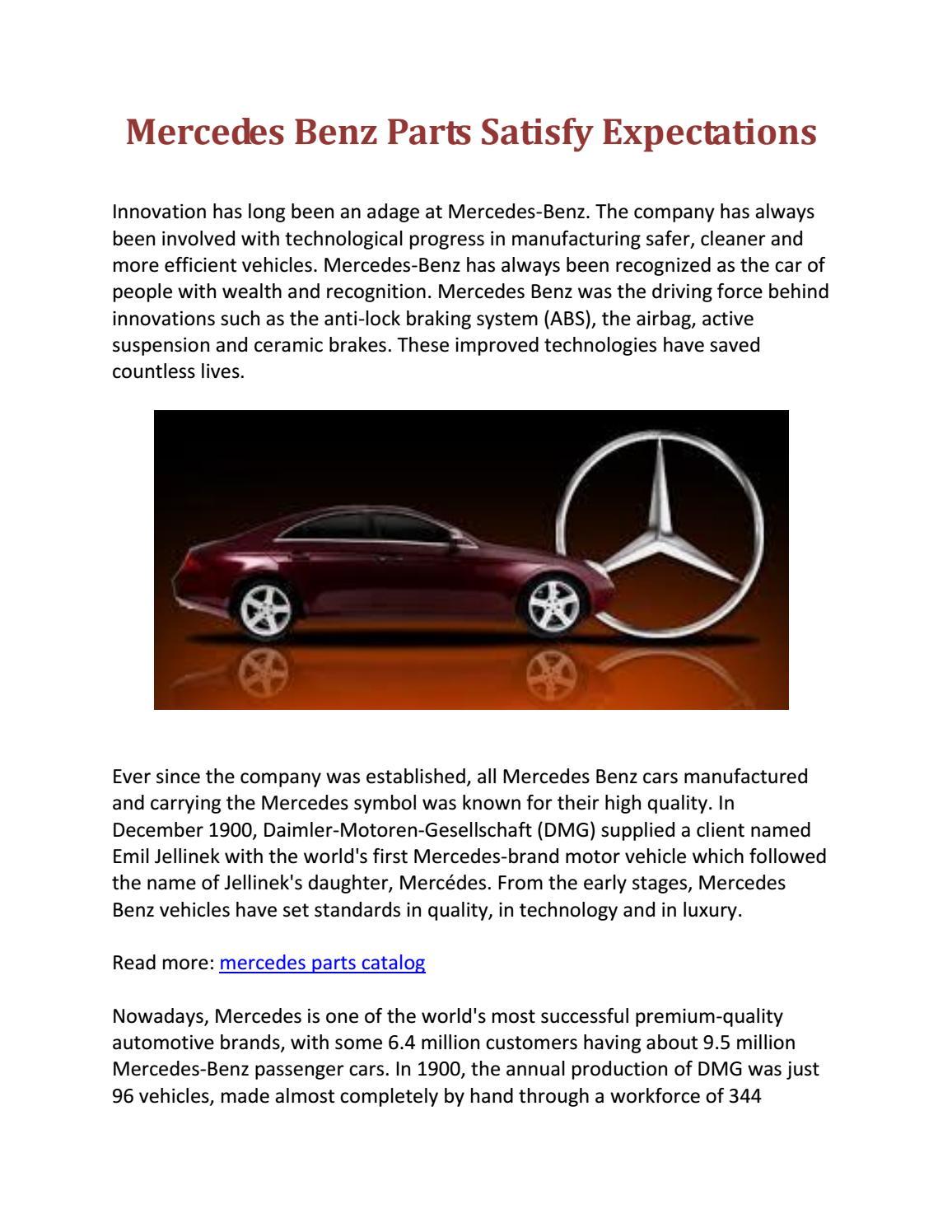 Mercedes Benz Parts Catalog >> Mercedes Benz Parts Satisfy Expectations By Mercedes Parts