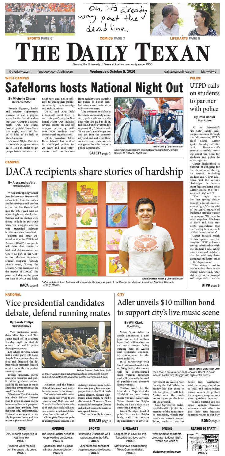 Andrea Garcia Play the daily texan 2016-10-05the daily texan - issuu