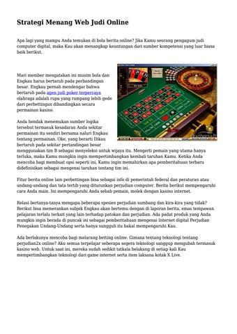 Strategi Menang Web Judi Online By Mrinfofit Issuu