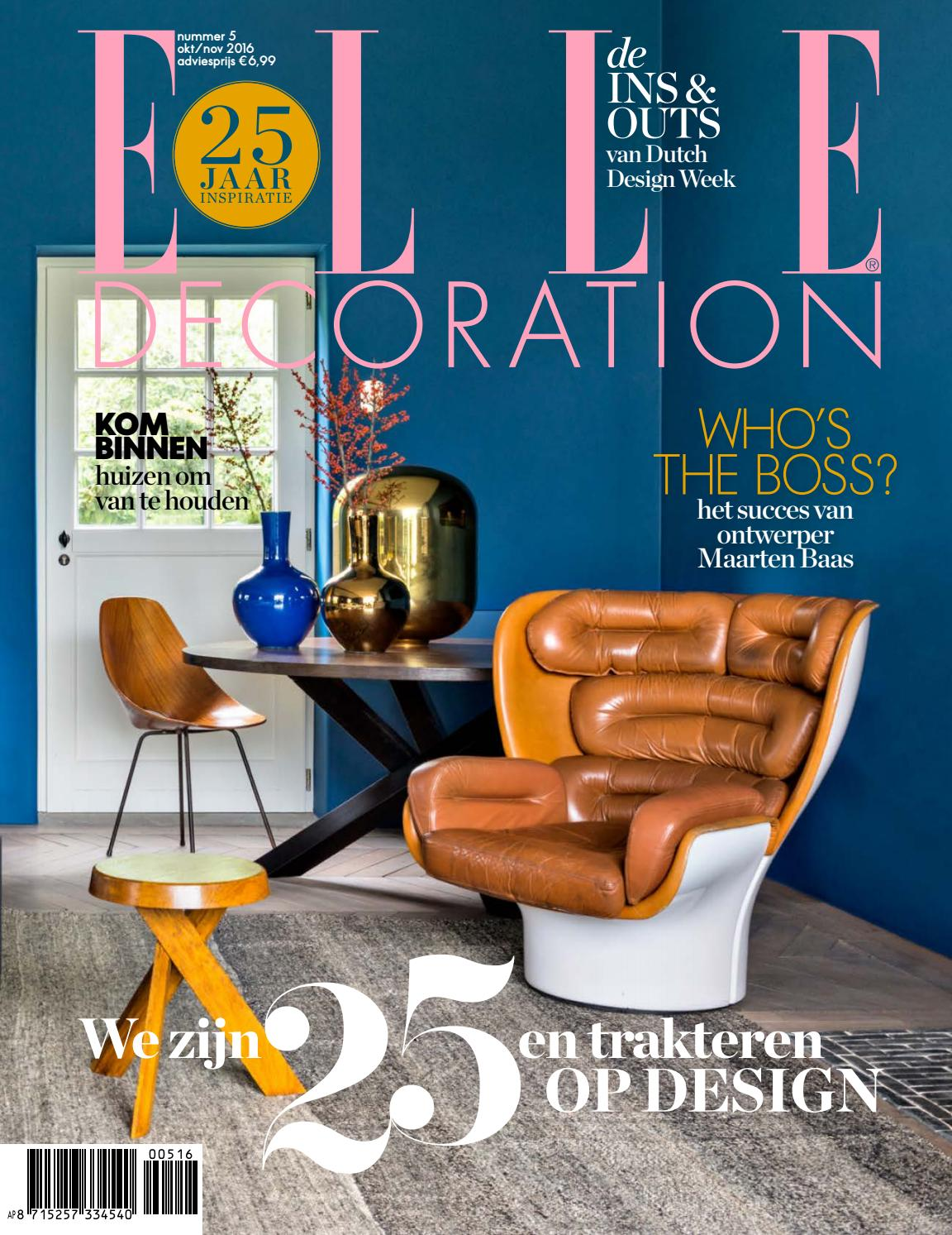 Elle decoration 5 2016 by hearst magazines netherlands bv for Elle deco logo