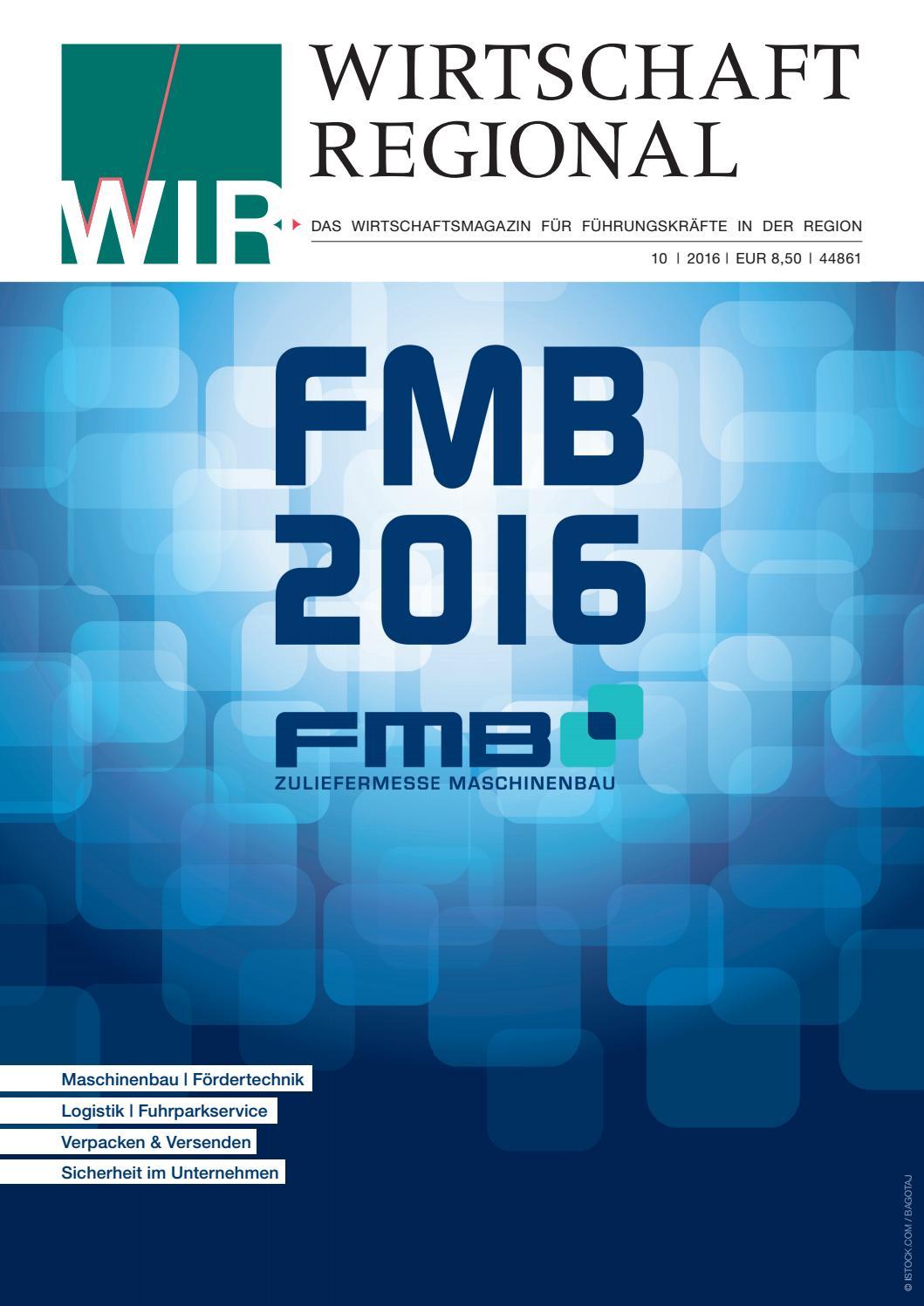 Wir Wirtschaft Regional 10 2016 By Press Medien Gmbh Co