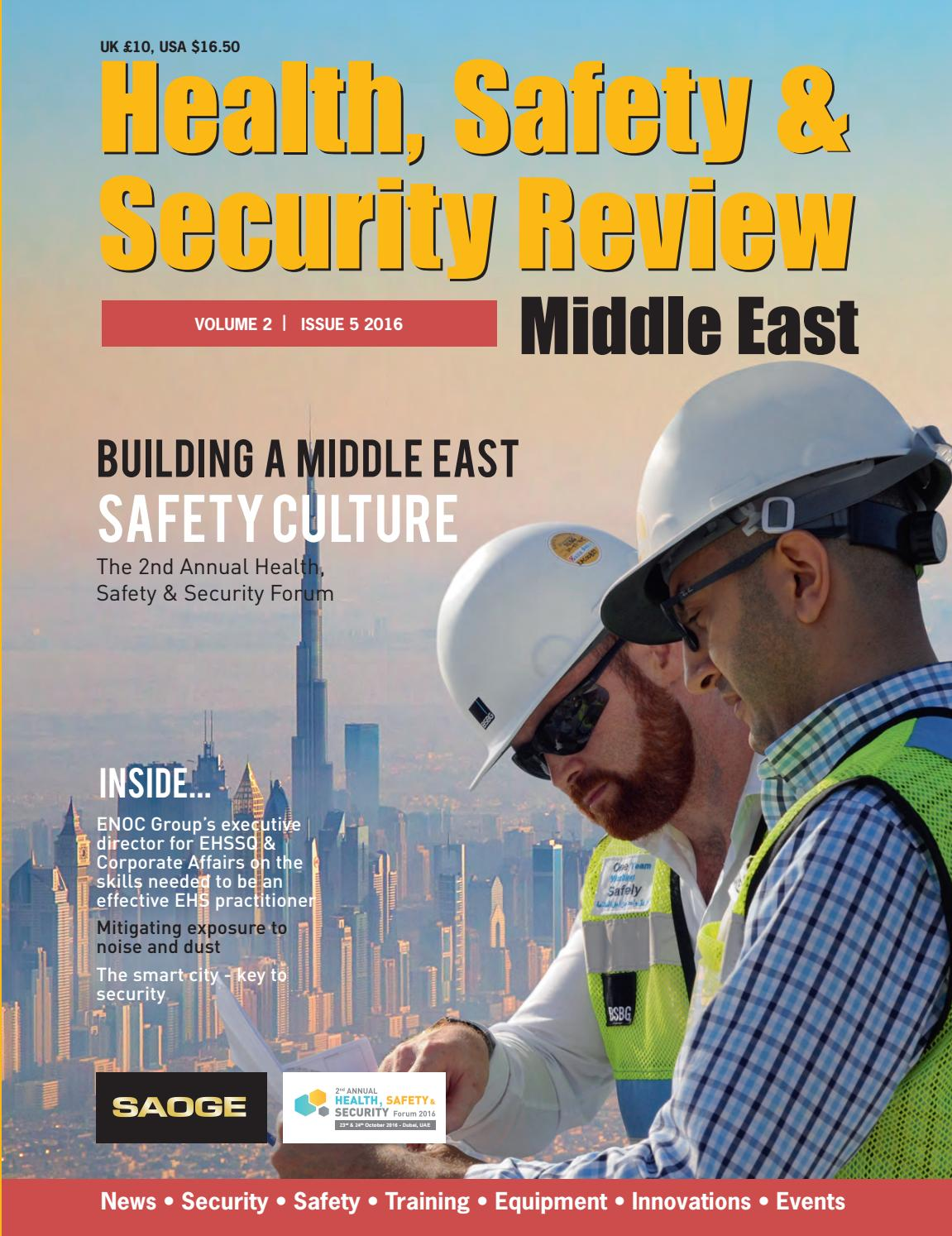 Health Safety & Security Review 5 2016 by Alain Charles