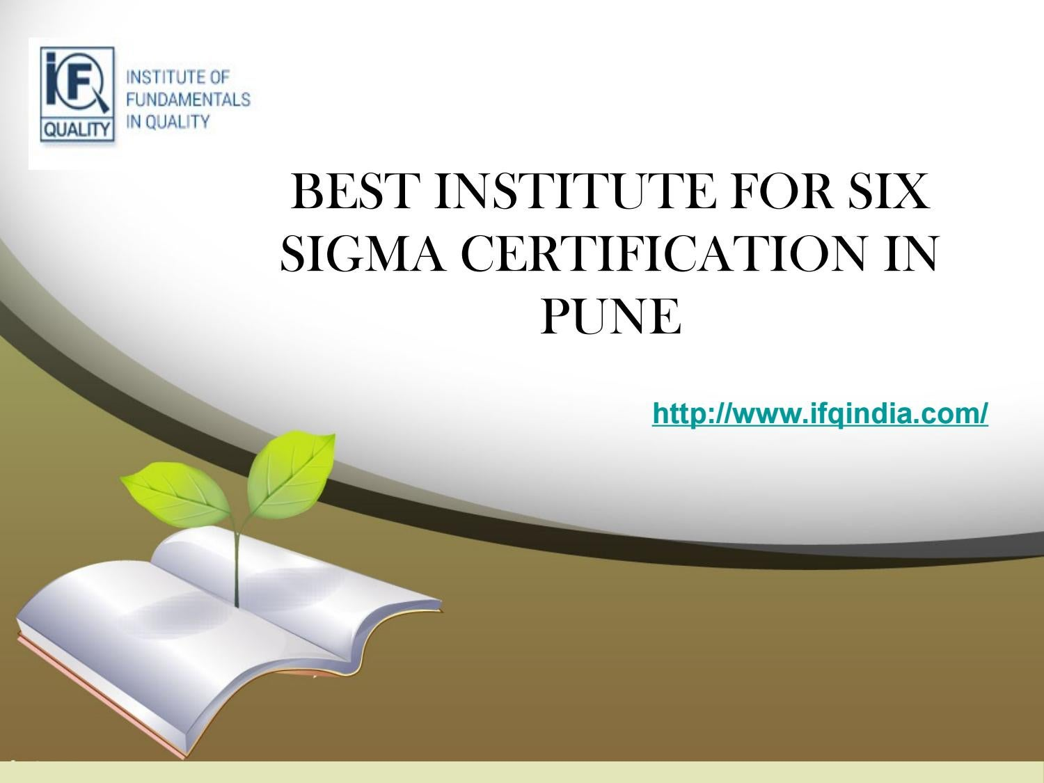 Best Institute For Six Sigma Certification In Pune By Ifqindia Issuu