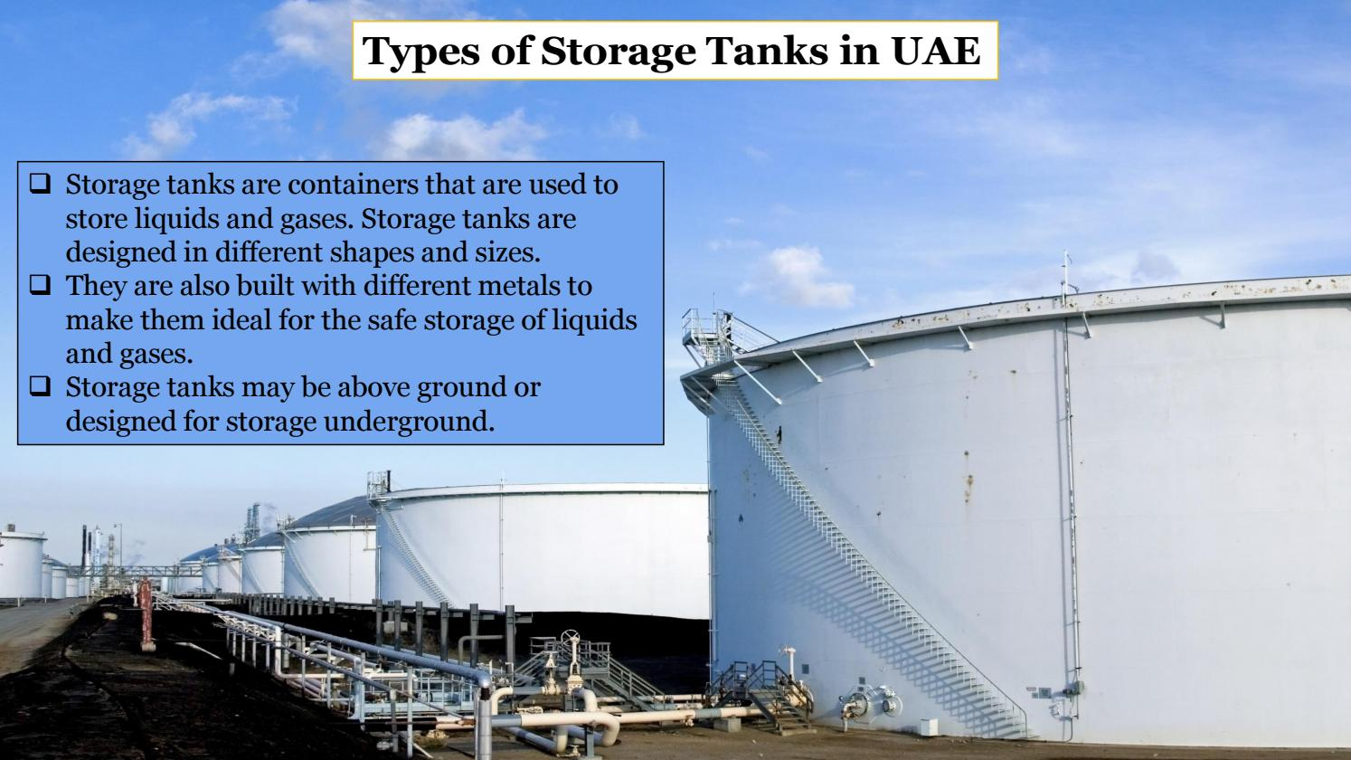 Types Of Storage Tanks In Uae By Eric Simons Issuu