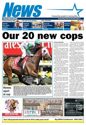 News - Cranbourne - 06th October 2016