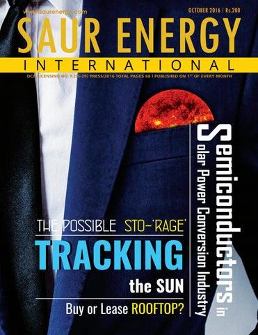 Saur Energy International Magazine October 2016 by Saur