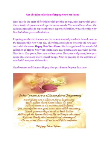 Happy New Year Poem by Payal - issuu