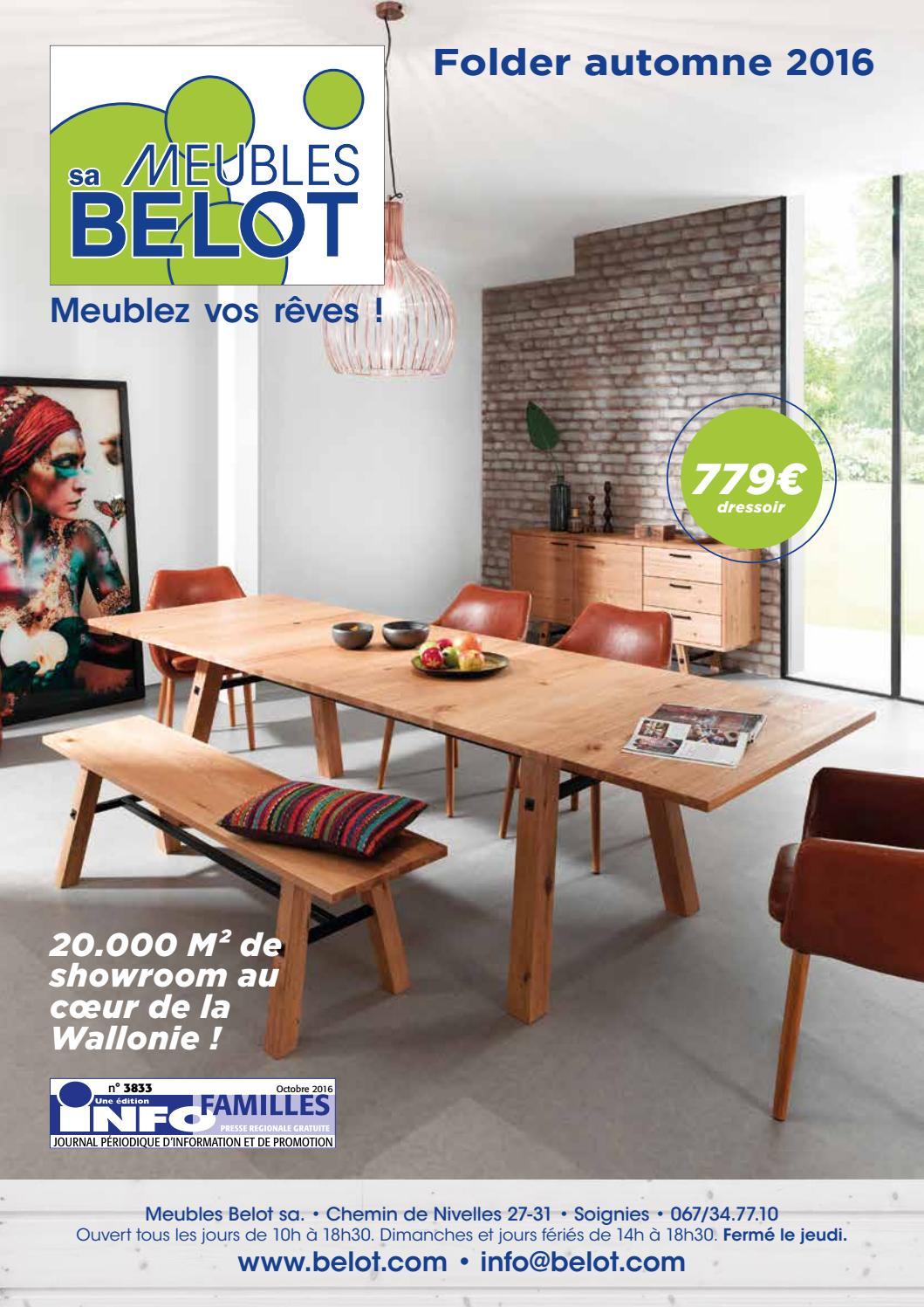 Meubles belot folder automne 2016 by meubles belot sa for Meuble belot soignies