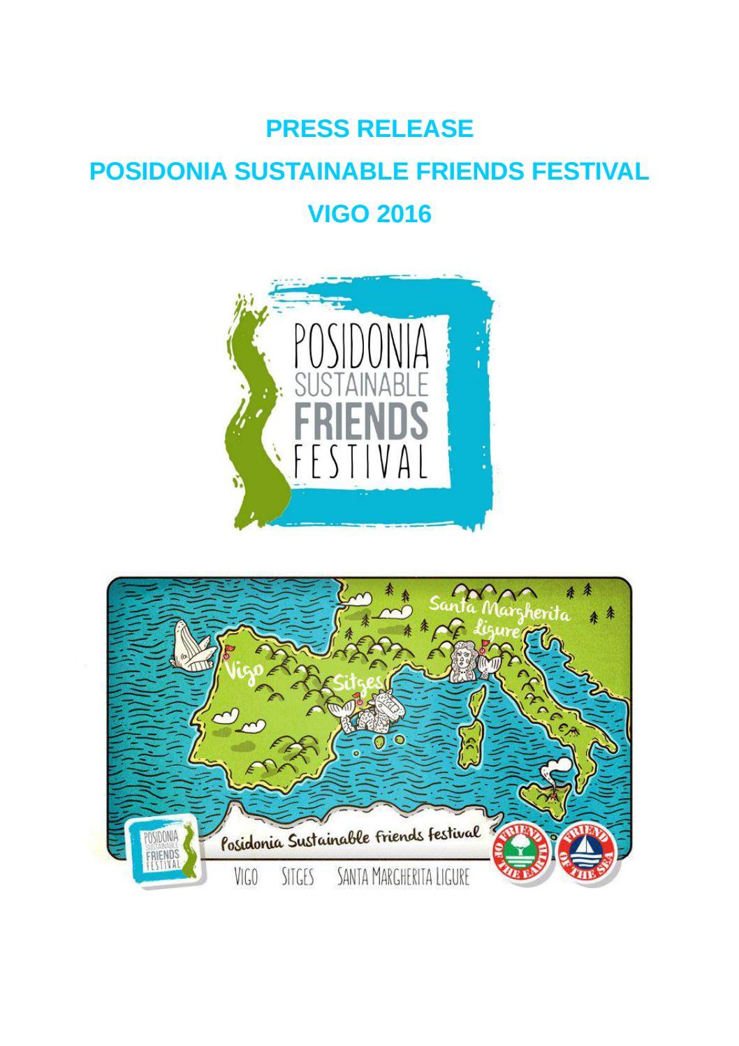 Press Release Posidonia SF Festival VIGO 2016 by Posidonia Green ...
