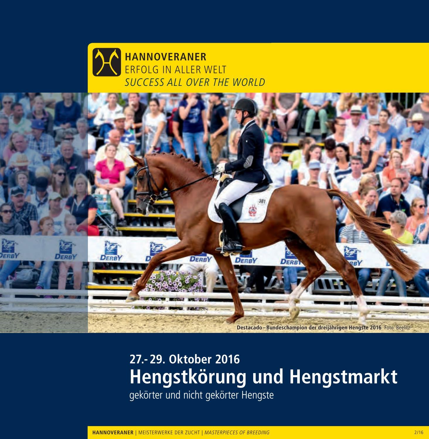 Hannoveraner Hengstkörung Und Hengstmarkt   Hanoverian Stallion Licensing  And Stallion Sales 2016 By Hannoveraner Verband   Issuu
