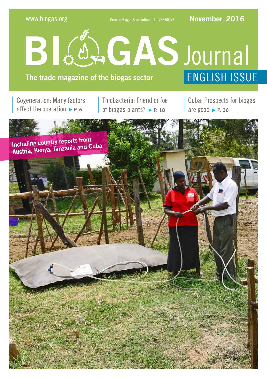 Biogas Journal English Issue November 2016 by Fachverband