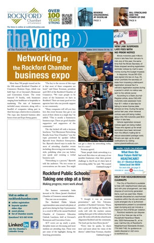 October Voice 2016 By Rockford Chamber Of Commerce Issuu