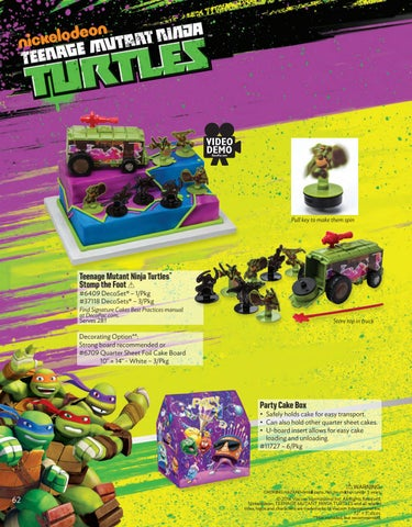 Decopac Teenage Mutant Ninja Turtles Stomp the Foot Signature Cake DecoSet Decopac Toys 6409