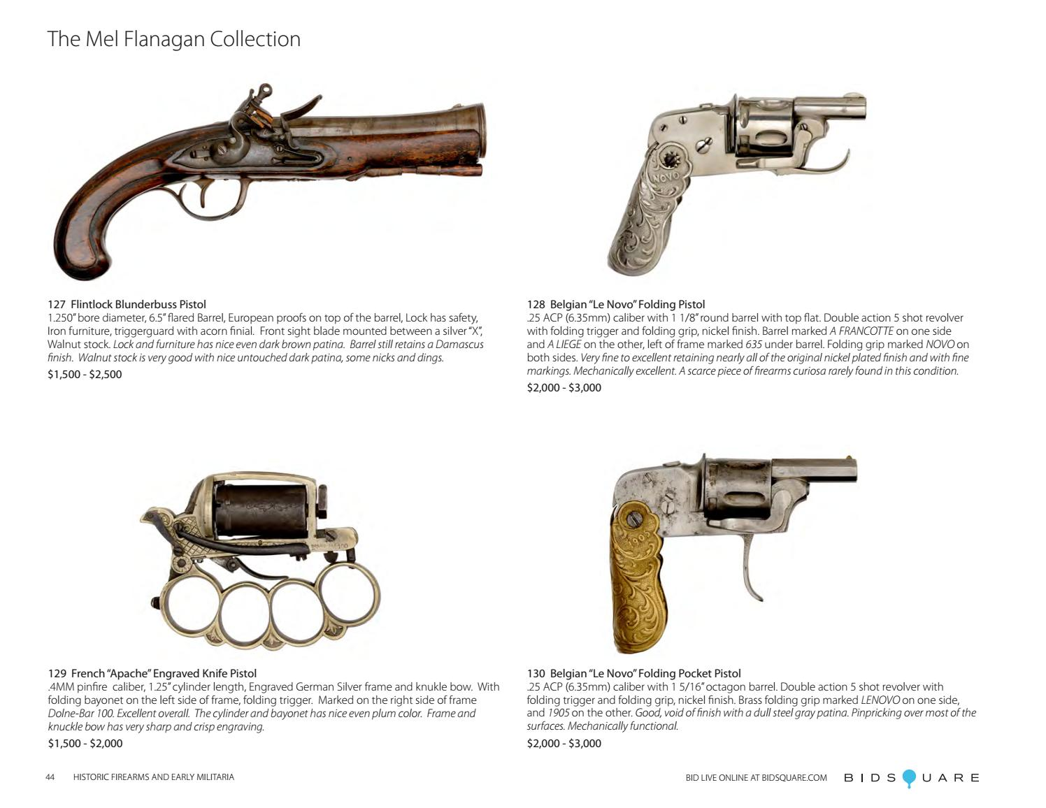 Historic Firearms and Early Militaria by Cowan's Auctions
