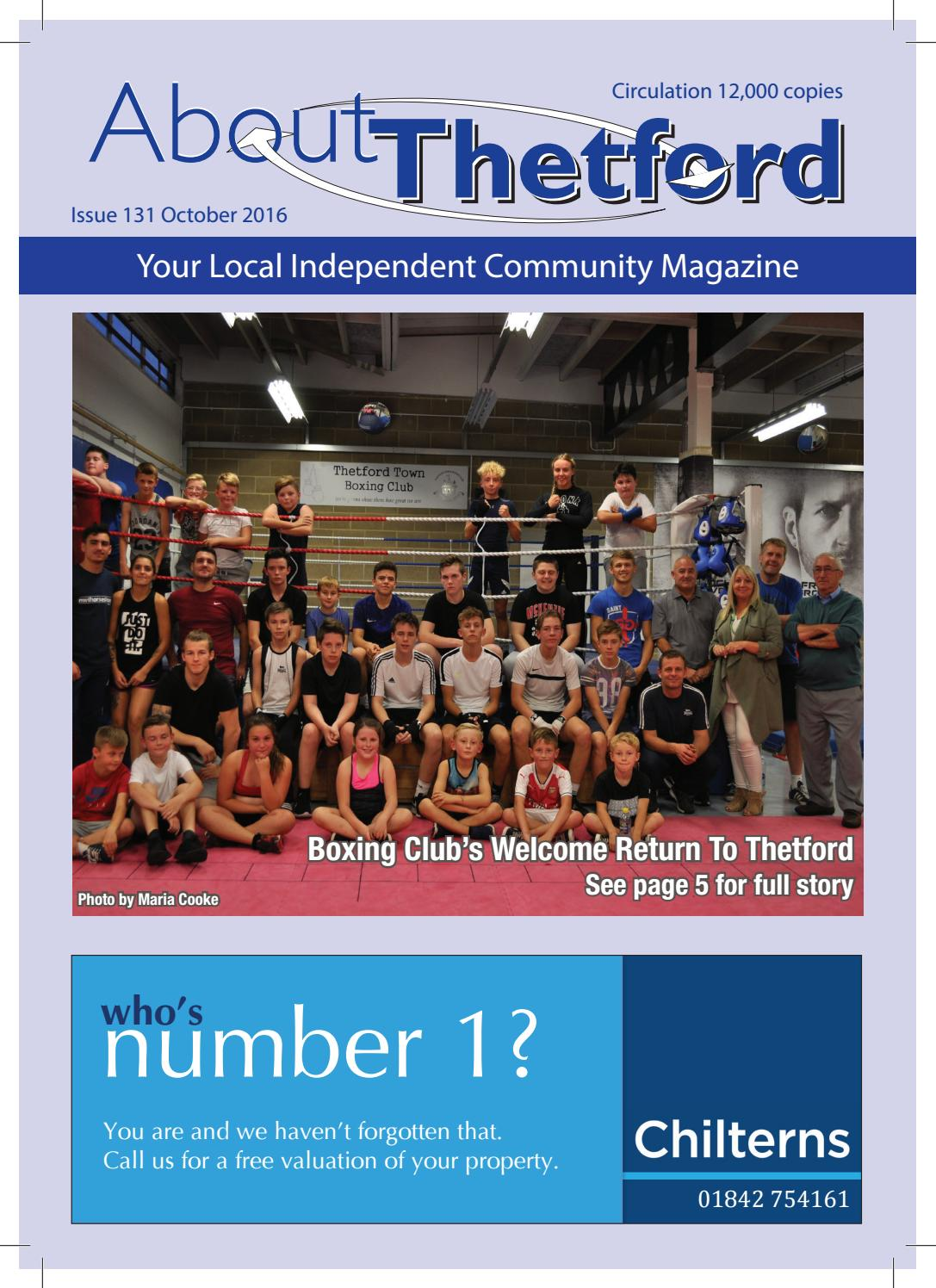 october 2016 about thetford magazine by terry jermy - issuu