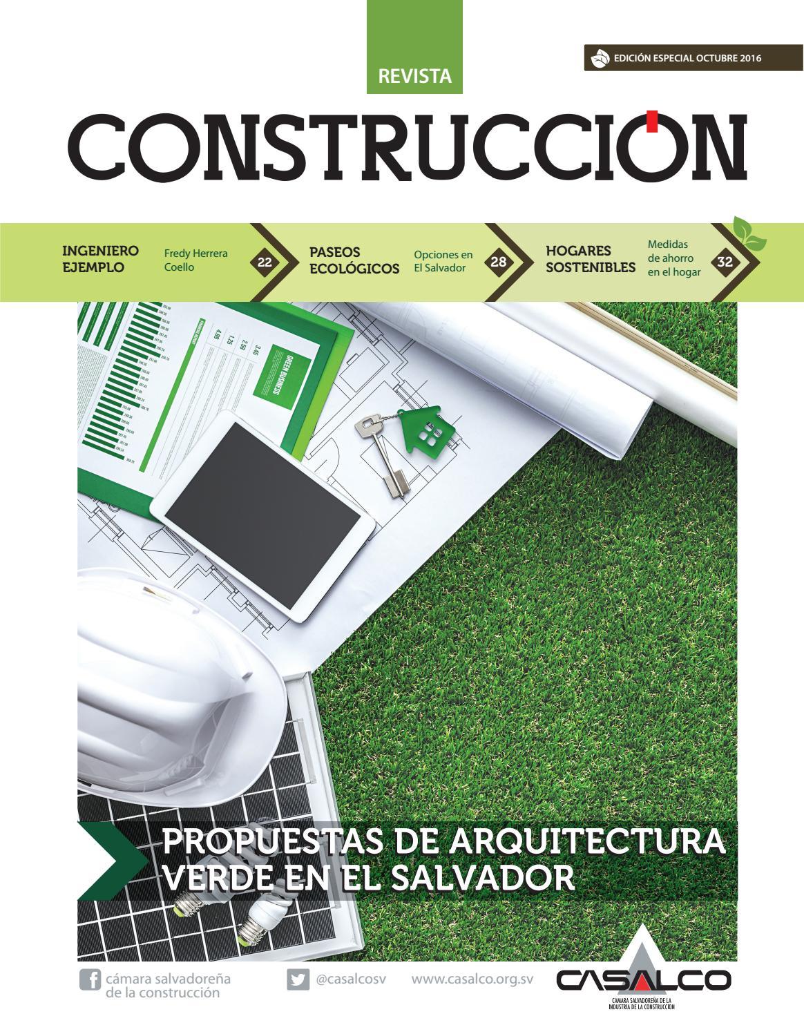 Revista construcci n verde 2016 by casalco sv issuu for Mallazo de obra precios