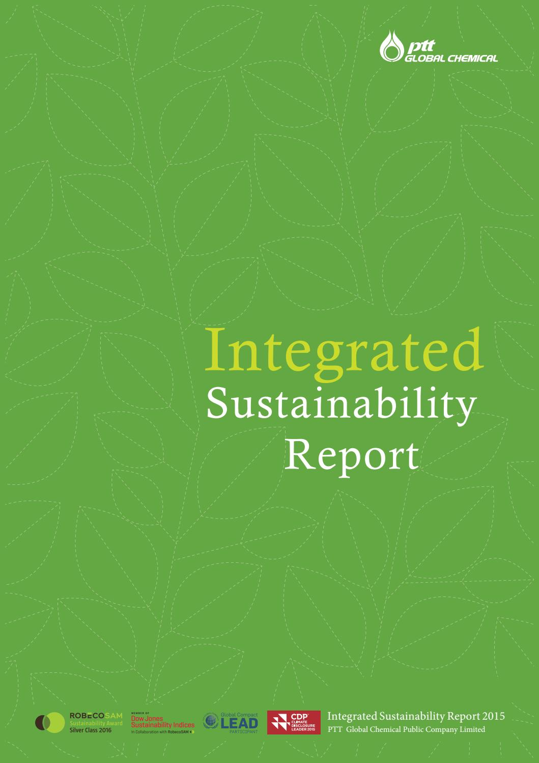 PTTGC: Integrated Sustainability Report 2015 by Piyanat