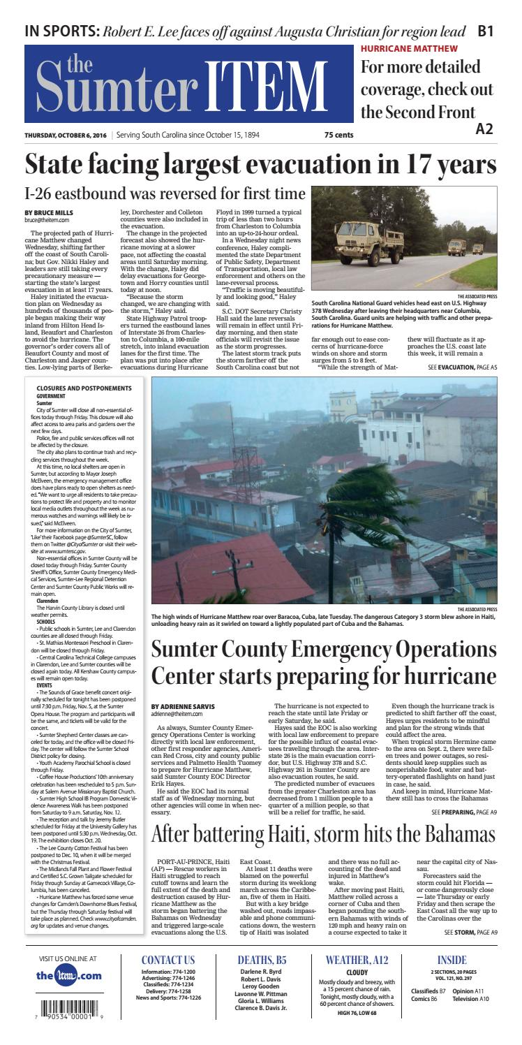 October 6, 2016 by The Sumter Item - issuu