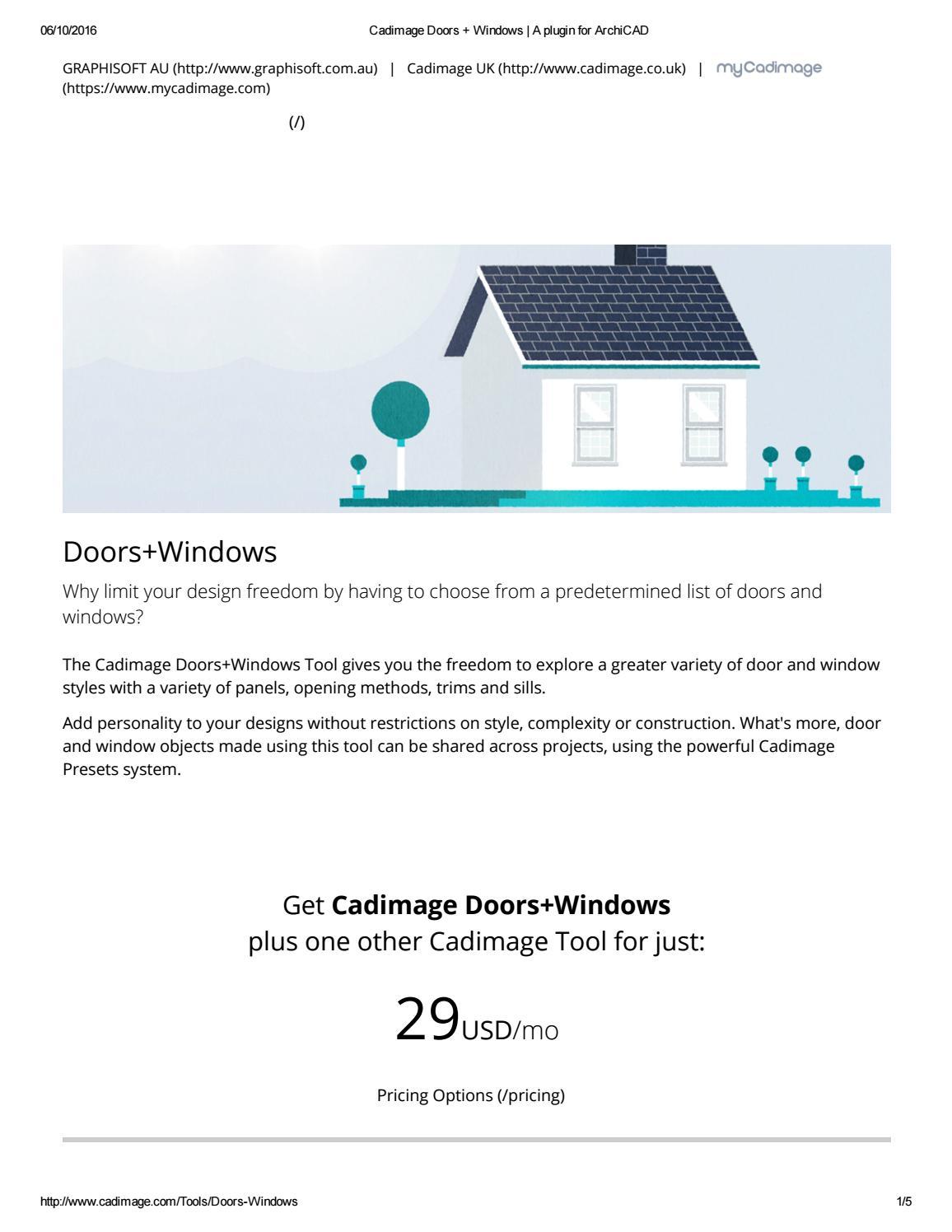 Cadimage doors windows a plugin for archicad by Cadimage Australia - issuu  sc 1 st  Issuu & Cadimage doors windows a plugin for archicad by Cadimage Australia ...
