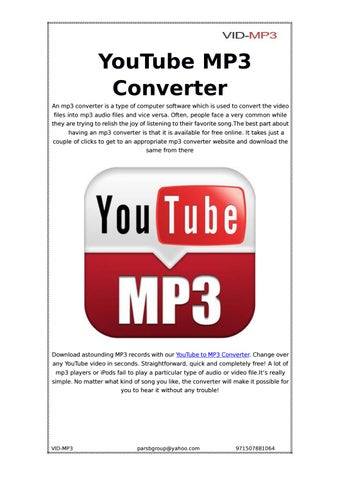 Youtube MP3 Converter By Vid Mp3